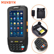Draagbare Android 1D Barcode Scanner Handheld Pda Draadloze Data Collector Terminal Bluetooth Voor Inventaris Barcode Reader Lader