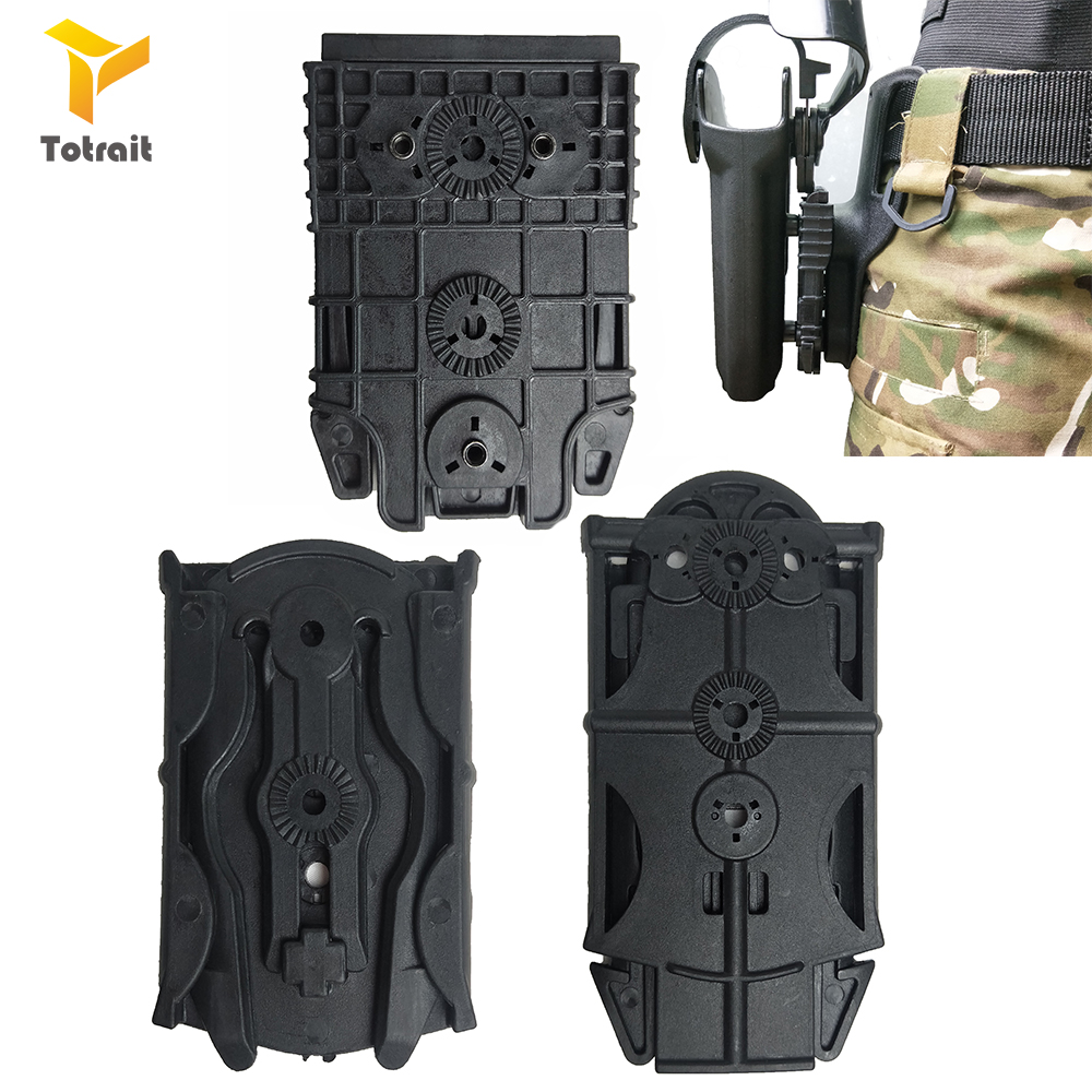 Totrait Gun holester <font><b>Molle</b></font> <font><b>Holster</b></font> Locking Fork System Quick Locking System Kit Short Type for Glock/<font><b>1911</b></font>/M9/P226/HK UPS image