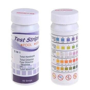 50pcs Multipurpose Chlorine PH Test Strips SPA Swimming Pool Water Tester Paper AC889