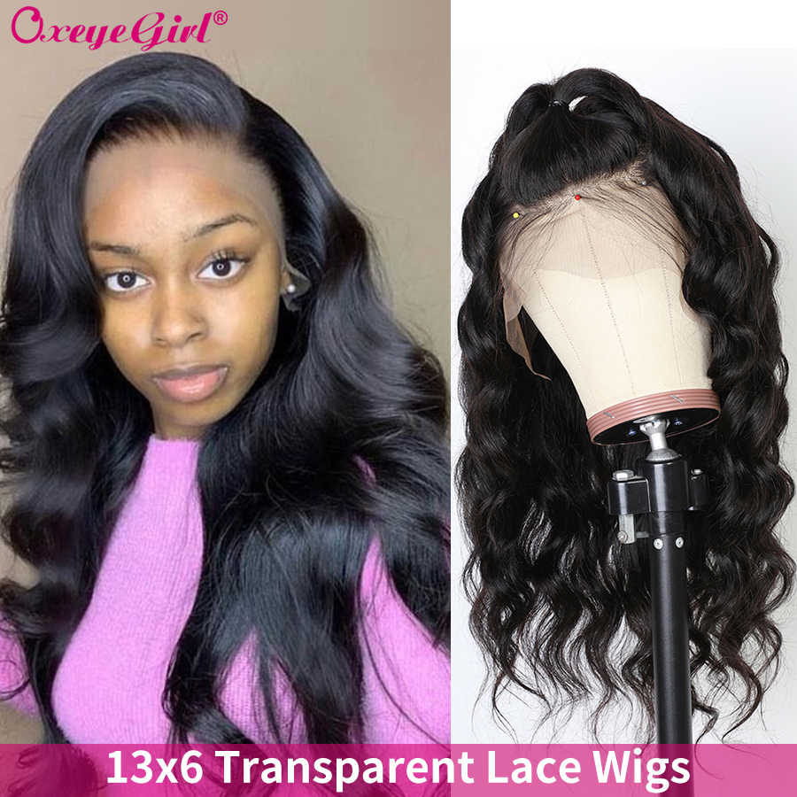 250 Density 13x6 Lace Front Wig Brazilian Body Wave Wig Oxeye girl Remy Pre Plucked Lace Front Human Hair Wigs With Baby Hair