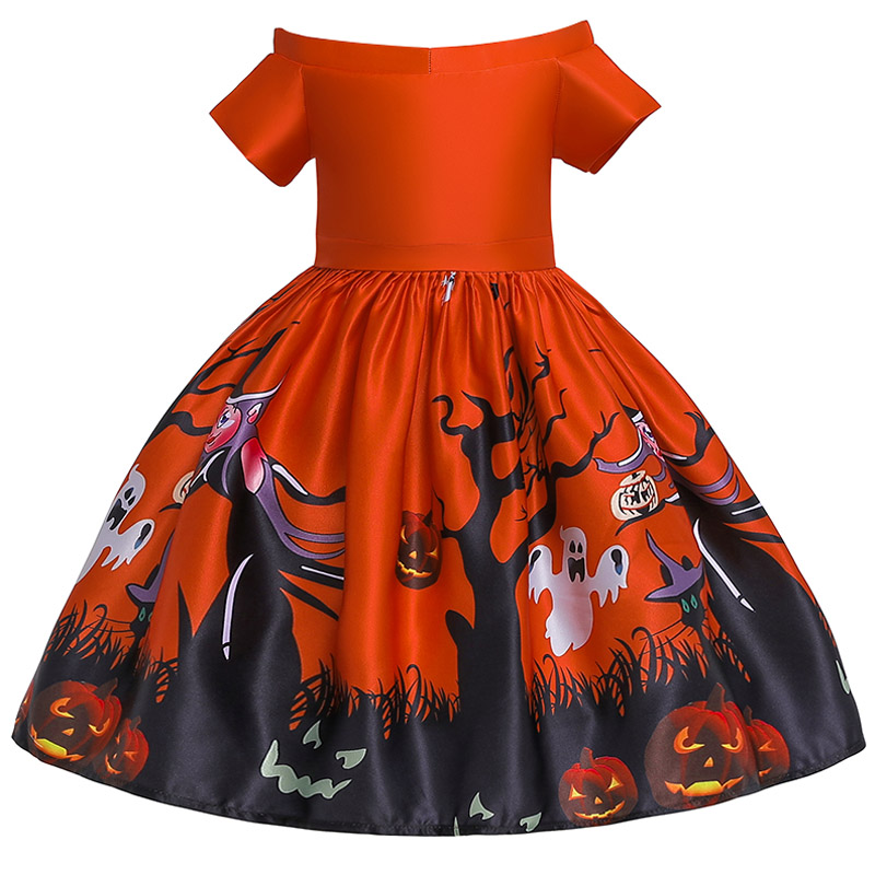 WEEKEND SHOP Children Girl Christmas Dress New Year Girl Cartoon Winter Snowman Dresses Girl Party Costume for Kids