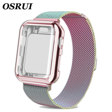 Watch strap Case for apple watch band 5 4 44mm 40mm iwatch 42mm 38mm Milanese Loop bracelet Stainless Steel watchband iwatch 3 2 watch case strap for apple watch 4 3 iwatch band 42mm 38mm 44mm 40mm milanese loop link bracelet stainless steel watchband