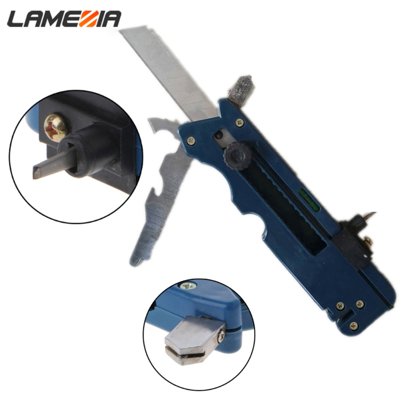 LAMEZIA Professional Tile Plastic Bottle Glass Cutter Six Wheel Metal Cutting Kit Tool Multifunction Cutter Push Knife