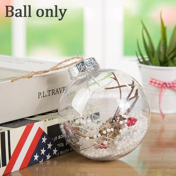 1pcs Transparent Plastic Ball Holiday Scene Decoration Disc Diy Shatterproof Paintable Decoration Bauble/ball Christmas Orn G2D3 image