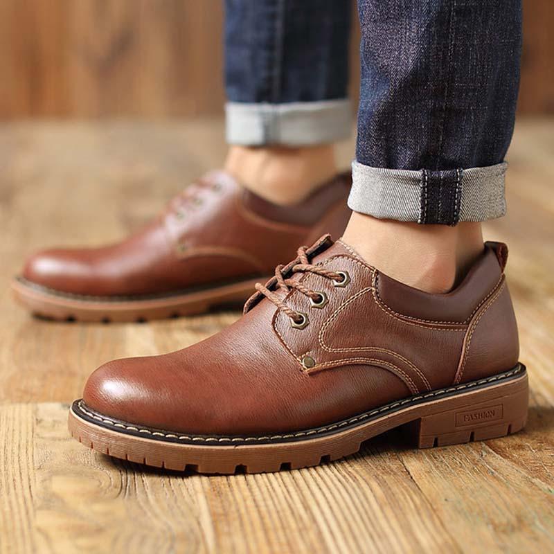 2019 الرجال أزياء والجلود أحذية عمل الدانتيل يصل حذاء كاجوال جلد طبيعي الذكور طالب سكيت حذاء منخفضة أحذية Zapatos دي Hombre-في حذاء أوكسفورد من أحذية على  مجموعة 2