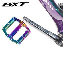 Bxt ultraleve liga de alumínio pedais da bicicleta mtb mountain road ciclismo pedais mountain bike peças frete grátis