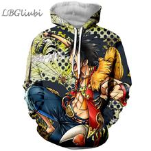 LBG new 3D printing one-piece anime hoodies men and women fashion hoodies Harajuku Sweatshirts cartoon hoodies Lufei hoodies hoodies trespass hoodies