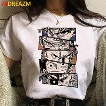 Camisetas estampadas Kawaii Luffy Zoro para hombre, camisetas de Hip Hop, camiseta de Anime japonés de una pieza, camiseta de dibujos animados Unisex, moda para hombre