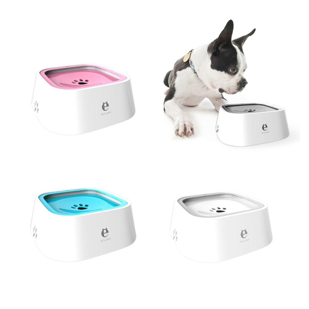 1.5L Pet Dog Bowls Floating Splash-proof Non-wet Mouth Beard Non-slip Bowl Dog Water Dispenser Drinking Basin Water Feeder C42