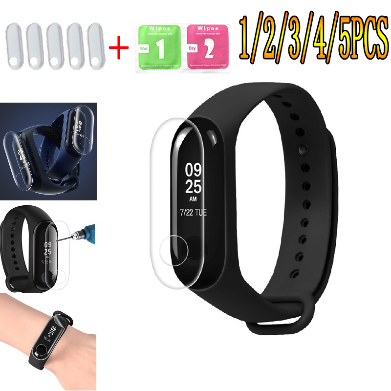 5pcs/lot Film For Xiaomi Mi Band 2 3 Screen Protector Miband Band2 Band3 Soft Nano Wristband Bracelet