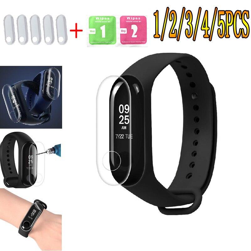 5pcs/lot Film For Xiaomi Mi Band 2 3 Screen Protector Miband Band2 Band3 Soft Nano Wristband Bracelet