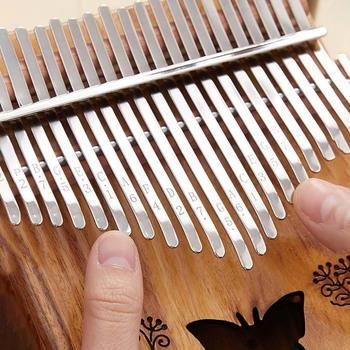 Kalimba 17 klucz kciuk fortepian pięknie instrumenty muzyczne mahoń kciuk fortepian wysokiej jakości popularne dla dzieci początkujący nowy tanie i dobre opinie CN (pochodzenie) Thumb Piano 17-tone thumb piano Kalimba finger piano Wooden piano Portable wooden finger piano hammer