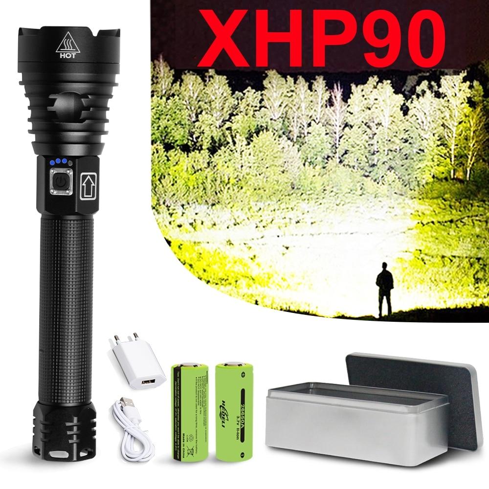 Powerfu LED Flashlight 3*XHP70 LED  Torch Rechargeable Waterproof Lamp LED Lamp