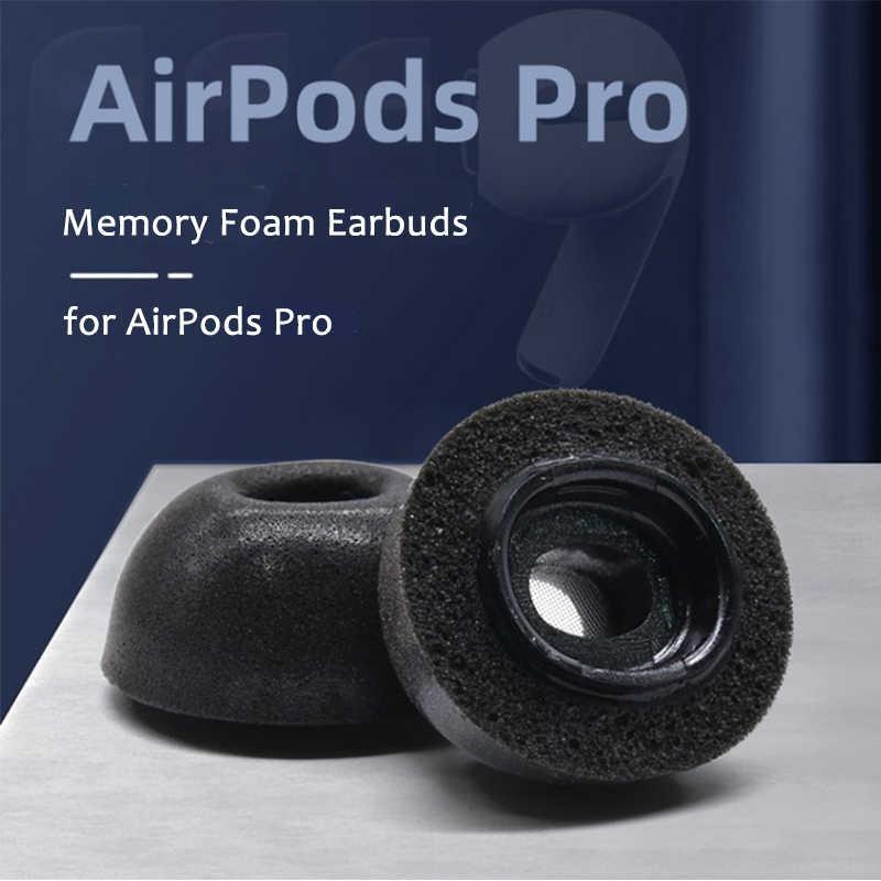 1 חתיכה זיכרון קצף החלפת אוזן טיפים אוזניות עבור אפל Airpods פרו אוזניות רעש בידוד אוזניות רפידות אפרכסת אוזניות