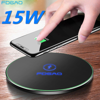 FDGAO 15W QI Wireless Charger Quick Charging USB C Fast Charge Station QC 3.0 For iPhone 11 XS XR X 8 Samsung S10 S9 Airpods Pro