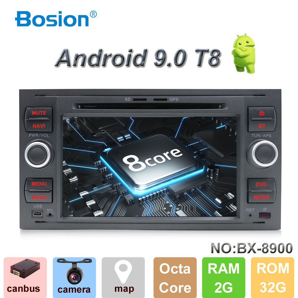 Bosion Car Multimedia Player Octa Core Android Car DVD GPS Autoradio 2 Din 7 For Ford