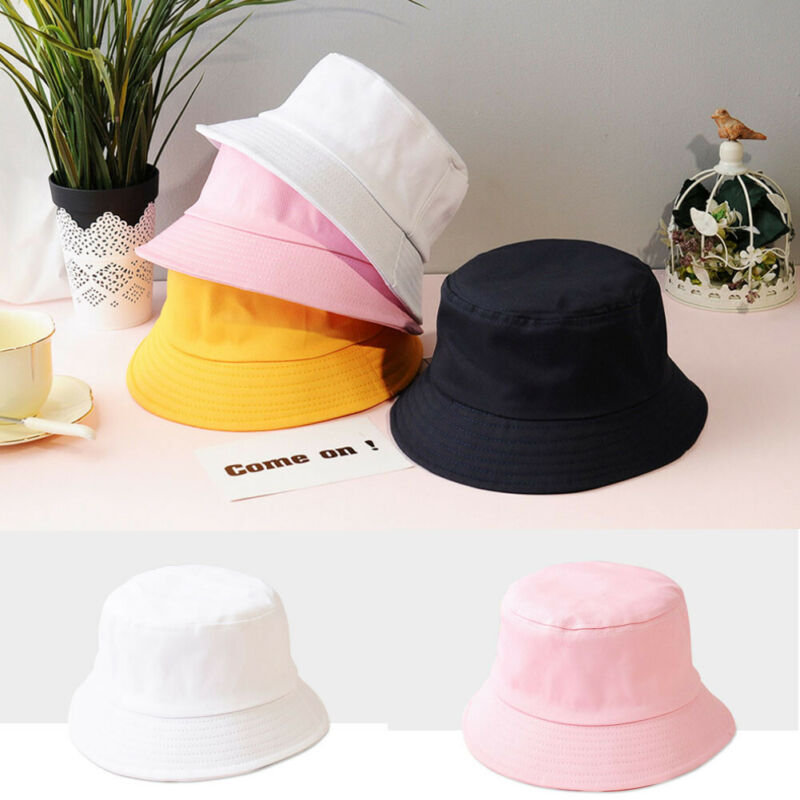 Hot Candy Color Fisherman Cap Unisex Summer Foldable Bucket Hat Women Outdoor Sunscreen Fishing Hunting Casual Cotton Sun Caps