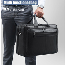 Large Capacity Men Genuine Leather Handbags Male Work 17.3 Inch Laptop Bag Man Luxury Travel Computer Bags Bolso Hombre 2020 New
