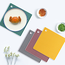 Creative Square Silicone Table Mat Multifunctional Coaster Non-Slip Heat Resistant Anti-Scald Durable Dish Drying Drain Placemat silicone drain mat water coaster placemat table mat kitchen tool heat resistant non slip tray home kitchen dishwashing drain mat