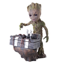 17cm Galaxy Guardian Groot Press Bomb Cute Model PVC Action Figures Toys Best Birthday Gifts cute nyan board cat in danboard mini pvc action figures collectible model toys gifts 10pcs set 7cm
