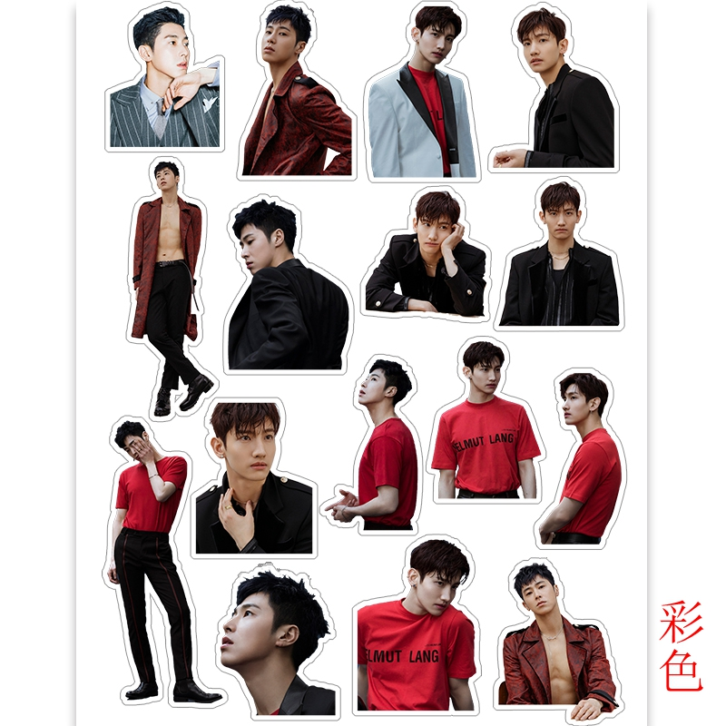 Kpop TVXQ Cute Adhesive Photo Sticker For Luggage Laptop Shim Changmin Jung Yunho Notebook Mobile Phone Decorative Sticker