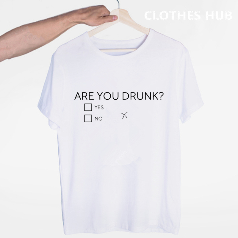 Are You Drunk Funny Alcohol Stag Drinking T-shirt O-Neck Short Sleeves Summer Casual Fashion Unisex Men And Women Tshirt
