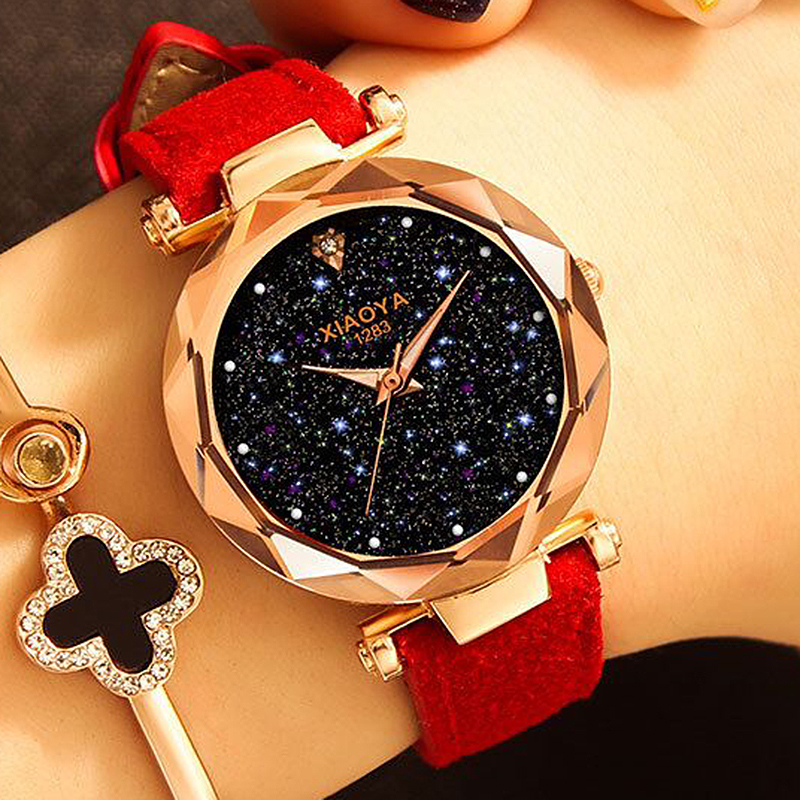 Fashion Women Watches 2020 Best Sell Star Sky Dial Clock Luxury Rose Gold Women's Bracelet Quartz Wrist Watches New Dropshipping