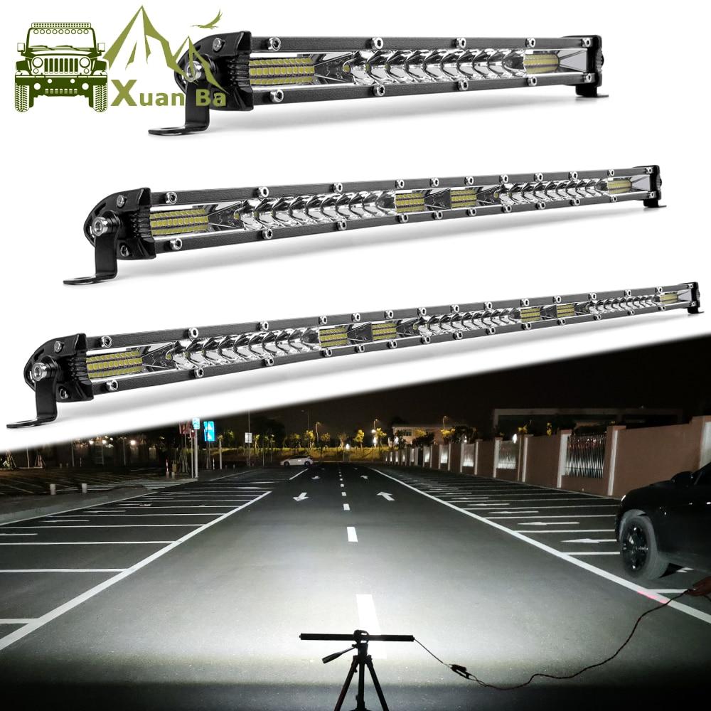 "Ultra Slim 12"" 22"" 32"" 42 Inch Led Bar Light 4x4 Offroad For Trucks ATV Uaz Spot Flood Combo 12V 24V Driving Barra Work Lights"