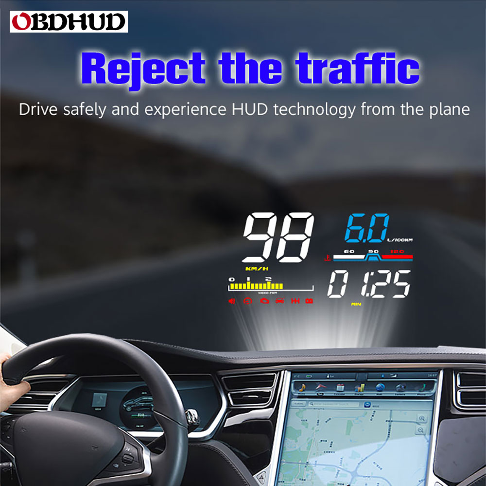 OBHUD Car HUD Head Up Display D5000 OBD2 Diagnostic Tool Digital Speedometer Windshield Screen Projector Free Shipping