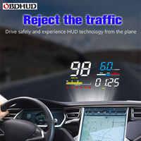 OBHUD Car HUD Head Up Display D5000 OBD2 Strumento di Diagnostica Digitale Tachimetro Del Parabrezza Dello Schermo Del Proiettore di Trasporto Libero