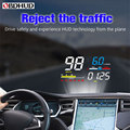 OBHUD affichage tête haute de voiture HUD D5000 OBD2 outil de Diagnostic compteur de vitesse numérique pare brise écran projecteur livraison gratuite|Affichage tête haute| |  -