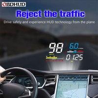 OBHUD Car HUD Head Up Display D5000 OBD2 Diagnostic Tool Digital Speedometer Windshield Screen Projector Free Shipping