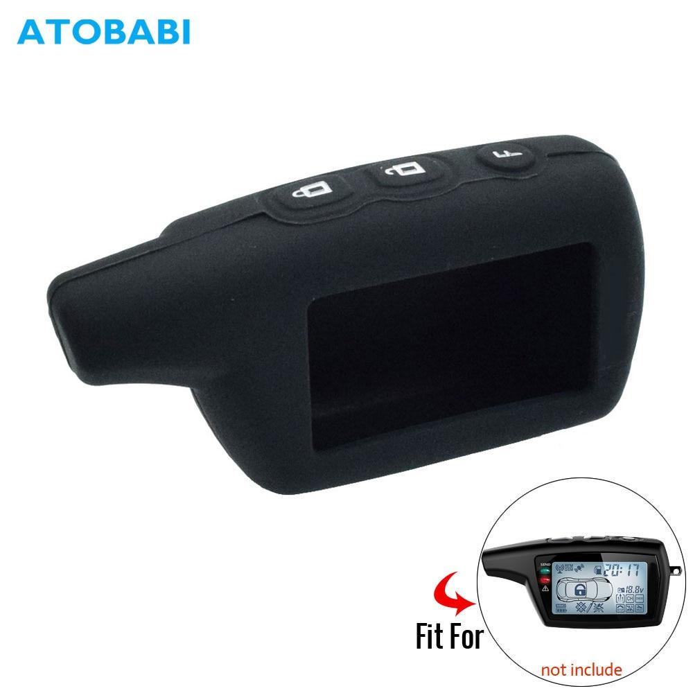 Silicone Key Case For Pandora DXL 3000 3210 3500 3100 3170 3300 3500 3700 2-Way Car Alarm LCD Remote Control Fob Keychain Cover