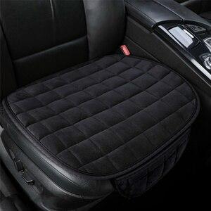 Image 4 - Универсальные зимние теплые чехлы для сидений автомобиля, Нескользящие Чехлы для передних сидений, дышащие накладки для автомобильных сидений, Защитные чехлы для автомобильных сидений
