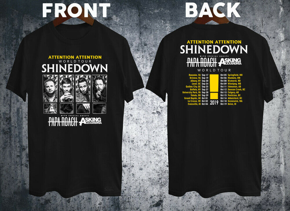 New Papa Roach Hard Rock Band Logo Men/'s Black T-Shirt Size S-3XL