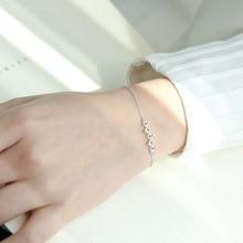 New Designer Silver Five Hollow Stars Bracelets 925 AAA Sparkling Zircon Bracelet For Women Wedding Fashion Jewelry