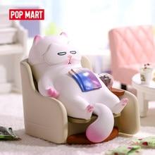 POPMART VIVI CAT Lazily Lying-3 for 1 Piece Blind Box Doll Binary animal toys Action Figure Birthday Gift Kid Toy