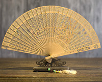 Suzhou Sandalwood Fan Hollow Out Classical Gift Fan Wenwan Arts And Crafts Sandalwood Fan Folding Fan China Wind