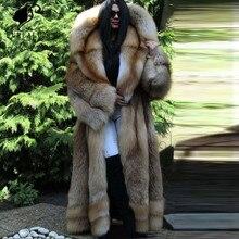 купить Thick Warm New Whole Skin Natural Real Red Fox Fur Coat Women's long Fur Coat Handmade Clothing Fur Coat High Quality Customized по цене 86689.63 рублей