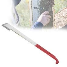 2 في 1 أداة النحال النحال مكشطة الأحمر J نوع الذيل أدوات تربية النحل مكشطة الفولاذ المقاوم للصدأ معدات تربية النحل