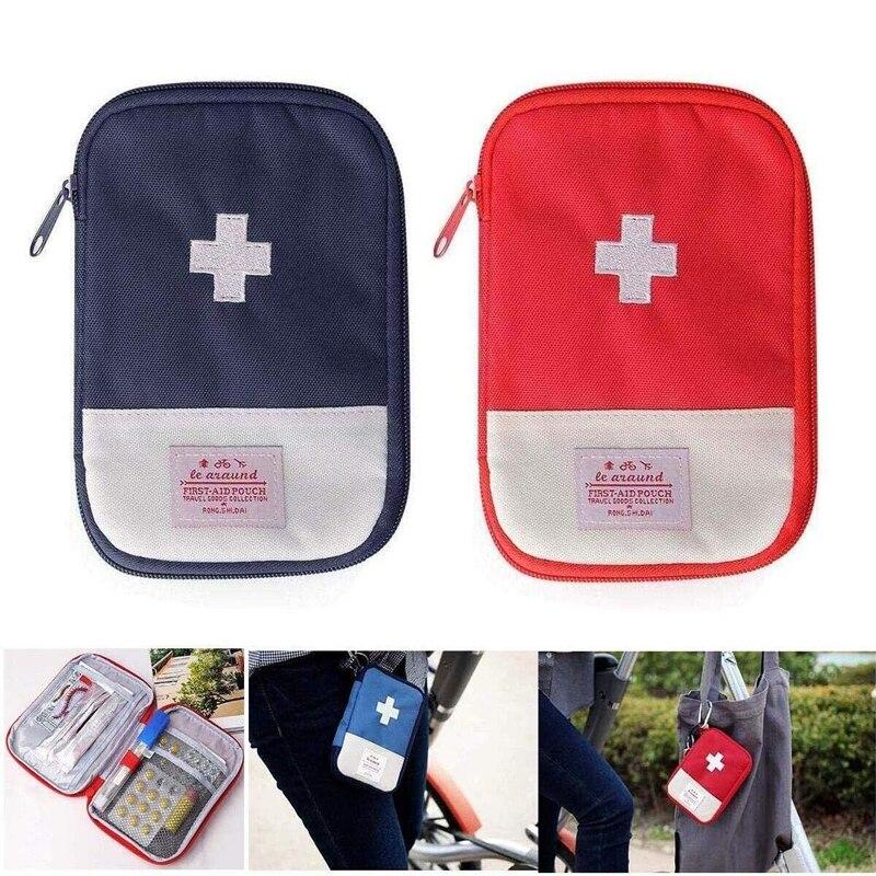 Пустая сумка для первой помощи мини-переносная Медицинская Сумка для кемпинга и пеших прогулок Многофункциональный аварийный комплект мед...