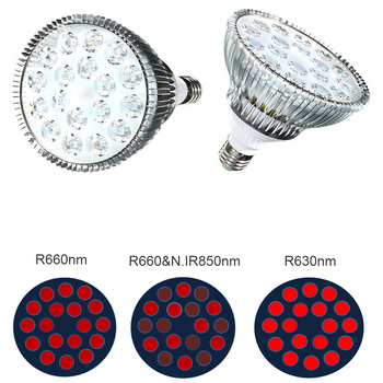 E27 PAR38 Bulb 54W Red 630nm 660nm LED Light Therapy Anti Aging, 850nm Infrared Therapy Light For Face Skin