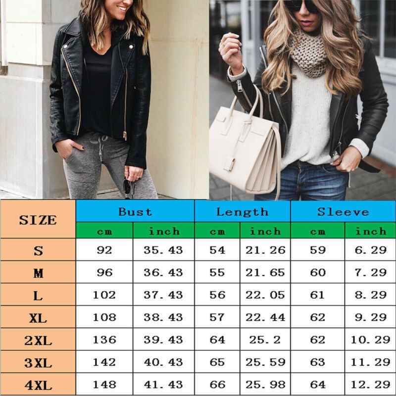 Mode femmes dames veste doux en cuir véritable manteau automne hiver Outwear vestes minces Streetwear grande taille