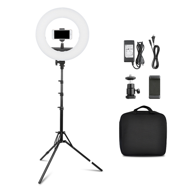 capsaver 14 inch 18 inch Ring Light LED Video Light Makeup Lamp with Tripod Stand TL-160S TL-600S L4500 RL-12A RL-18A 2