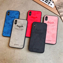 Luxury Leather Phone Case For iphone XS MAX XR 7 8 6 6s  Plus Avengers Marvel comics Batman Cases Cover X 10