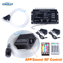 Bluetooth סיבים אופטי כוכב אור 16W RGBW Smartphone APP RF בקרת אופטי סיבי ירי מטאור אפקט ילדי חדר אורות