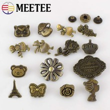 10pcs/30pcs Solid Brass Metal Snap Button Coat Suits Combined Button Sewing Press Studs Buttons Snap Fastener DIY Buckle D3-4
