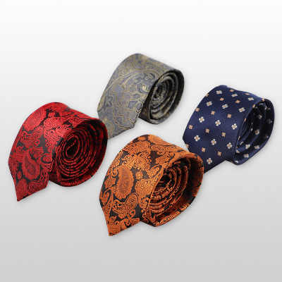 Fashion Jacquard Pattern Groom Wedding Tie Best Men's Suit with Tie Regular Size