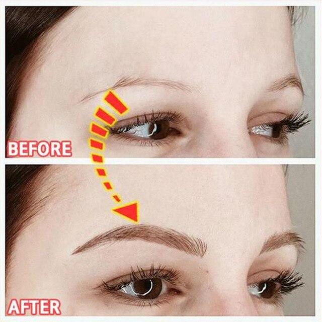 11 Pairs New Magic 4D Hair-like Eyebrow Tattoo Sticker False Eyebrows Long Lasting Waterproof Eye Brow Stickers Makeup Tools 2