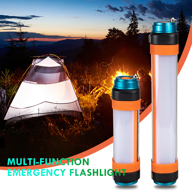 Waterproof LED Portable Flashlight Multifunction USB Rechargeable Magnetic Flashlight Tent Light Outdoor Camping Light